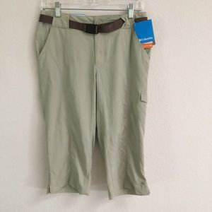 "NWT Columbia ""psych to hike"" knee pants 8"
